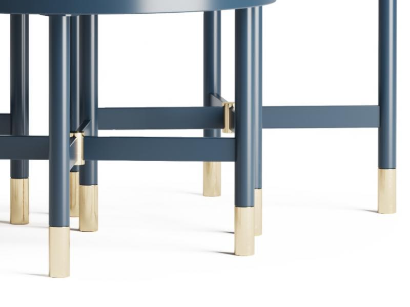 Set of 3 coffee tables.Mod: MONSIEUR