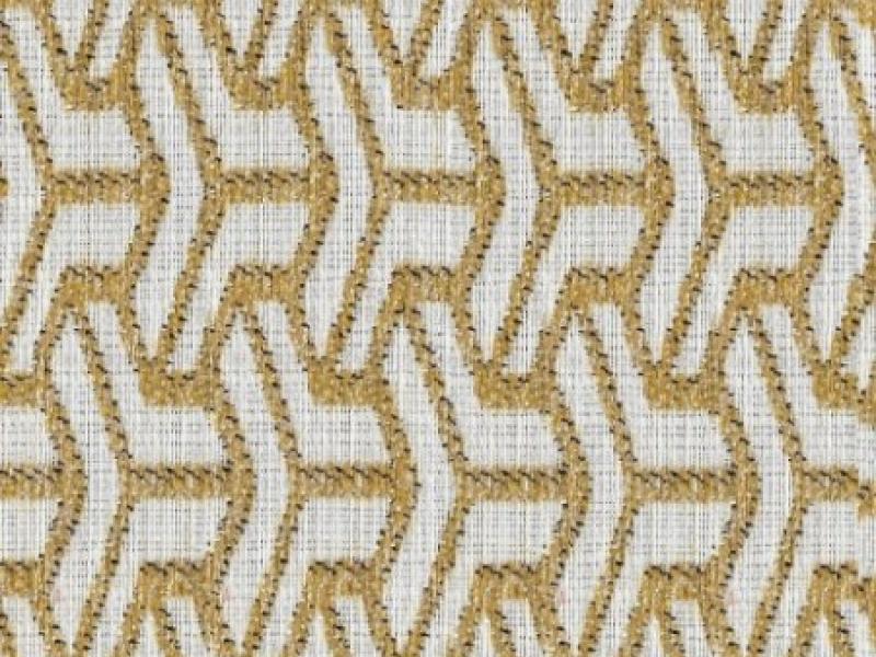 Upholstered pouff. Mod. BOSTON GEOMETRIC
