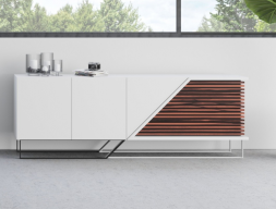 Design sideboard in wood and lacquer. Mod. AJACCIO