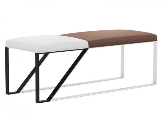 Design upholstered bench in velvet. Mod. AJACCIO