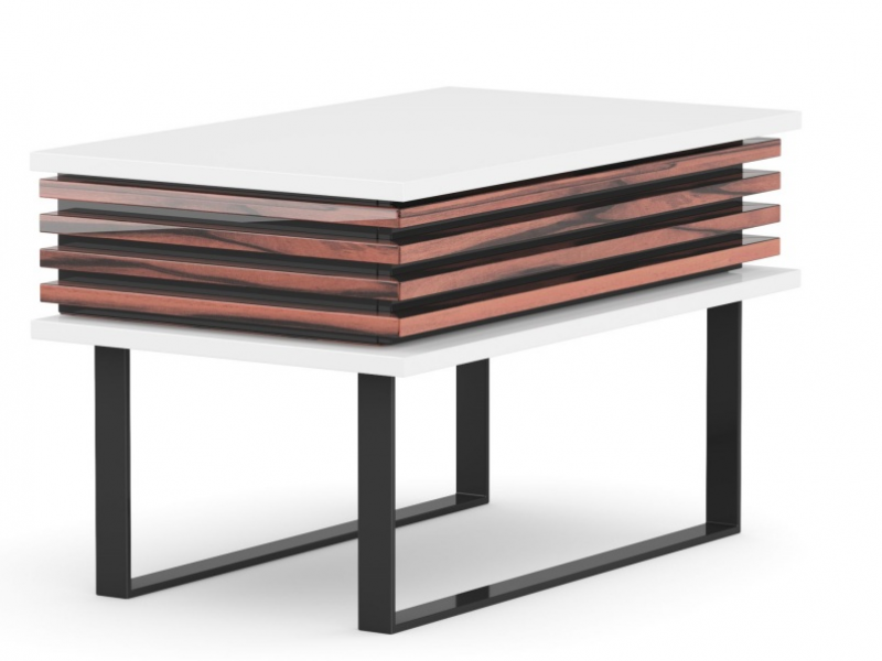 Design bedside tables in wood and lacquer. Mod. AJACCIO