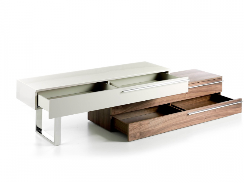 TV stand with legs and handles in stainless steel. Mod: GOB