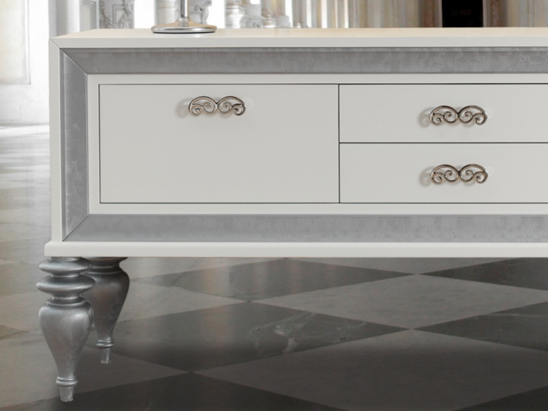 Lacquered sideboard with doors and drawers. Mod. MOSCOW