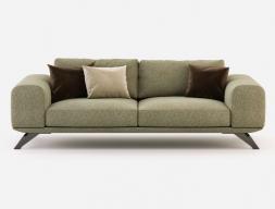 Design sofa with stainless steel frame . Mod. VERONA-3