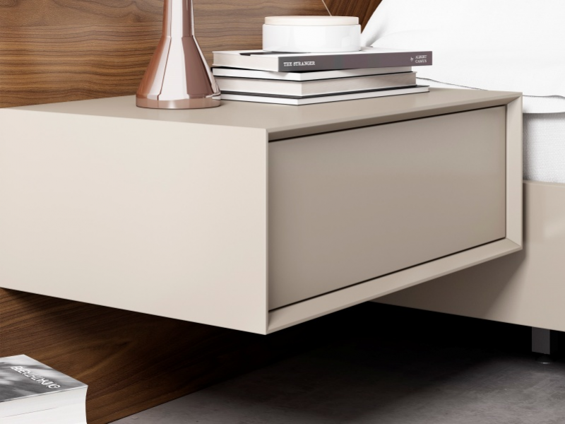 1-drawer lacquered bedside tables. Mod: SILVAIN