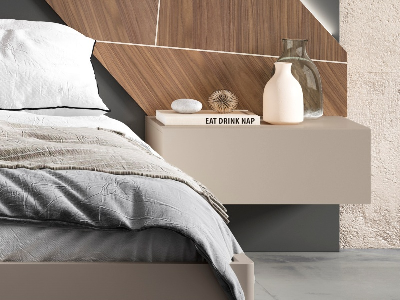 1-drawer lacquered bedside tables. Mod: LILOU