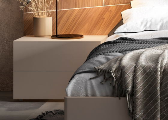 2-drawer lacquered bedside tables. Mod: LILOU