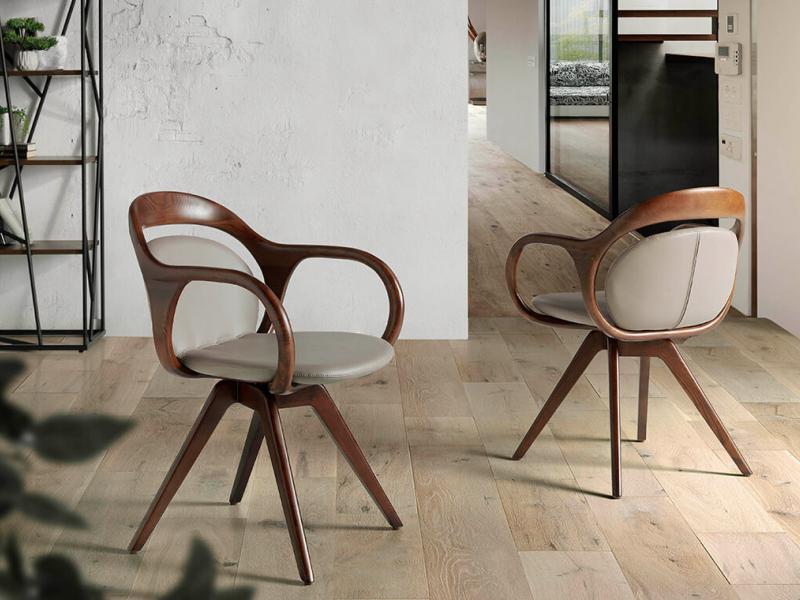 Swivel upholstered chair.Mod: ADELE