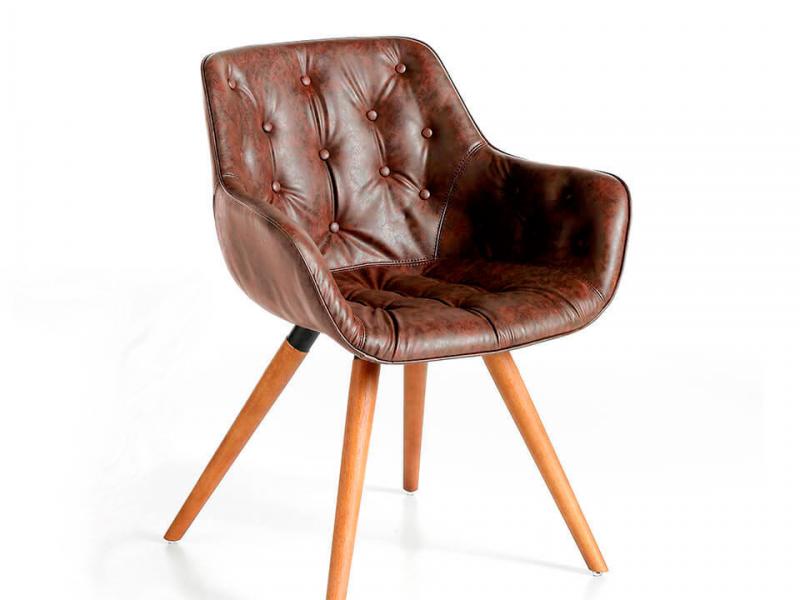 Upholstered chair. Mod. INGRID