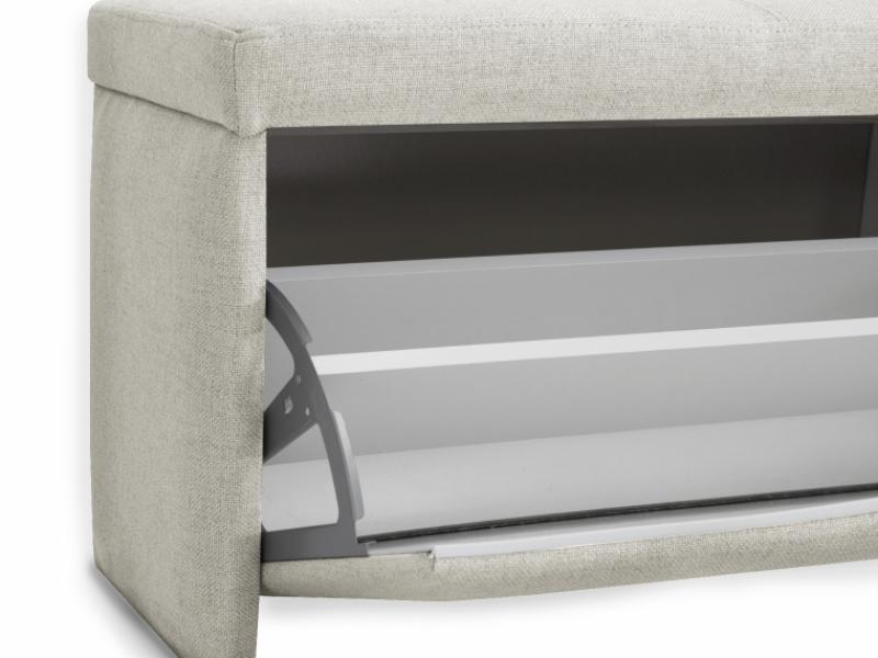 Upholstered shoe rack. Mod. PARIS