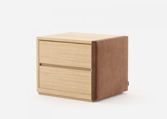 Mesitas de noche en madera y tapizadas- juego de 2 unidades: Mod:DORIANNE