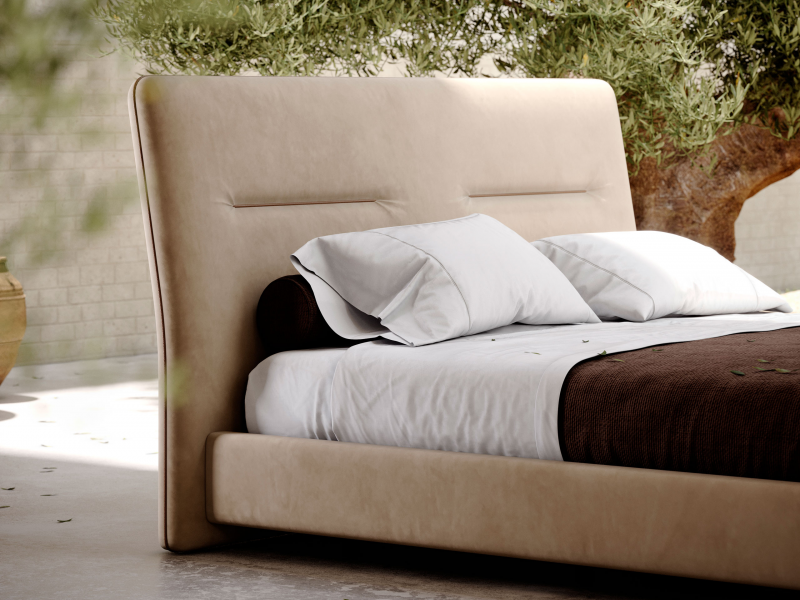 Complete upholstered bed. Mod. DANNA
