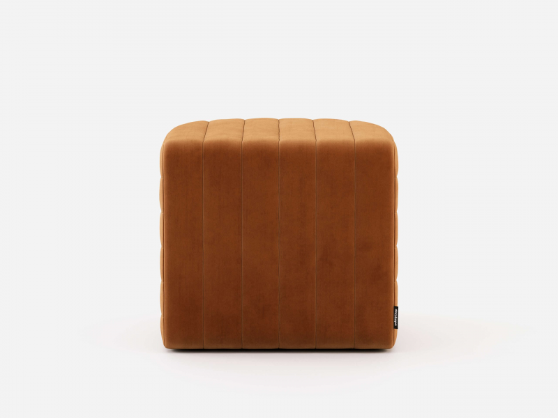 Upholstered pouf. Mod. CURBE