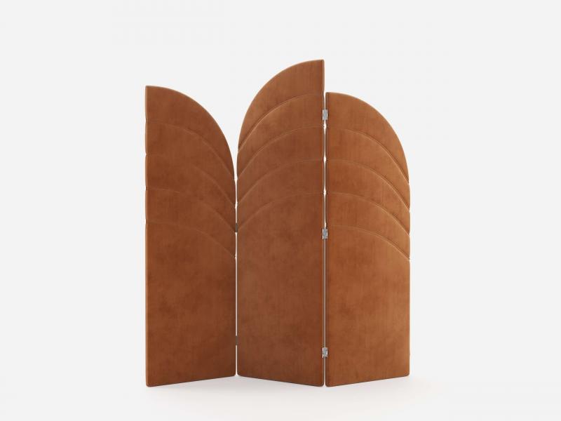 Upholstered folding screen.Mod: DORIANNE