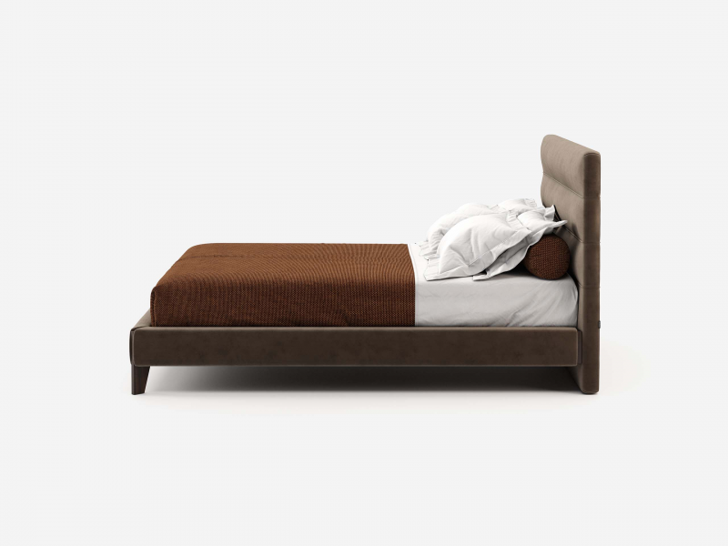 Complete upholstered bed. Mod. FLAVIA