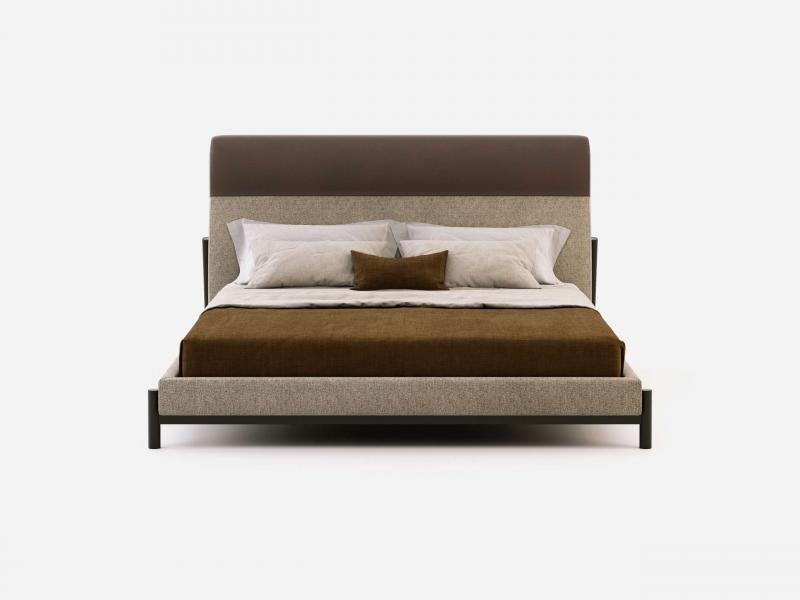 Complete upholstered bed. Mod. AGHATA