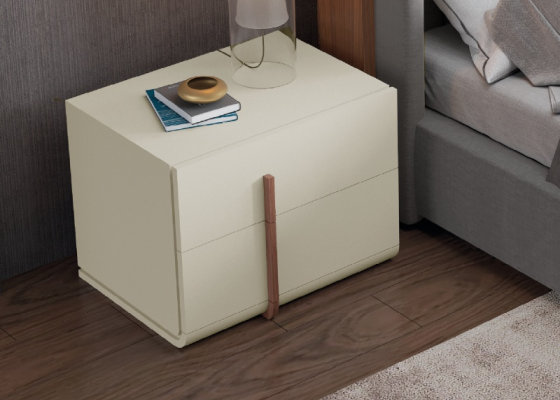 Lacquered bedside tables with 2 drawers. Mod. HABIBA