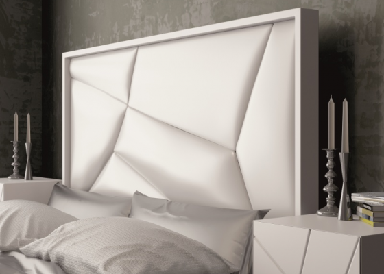 Upholstered and lacquered headboard. Mod. NADUA